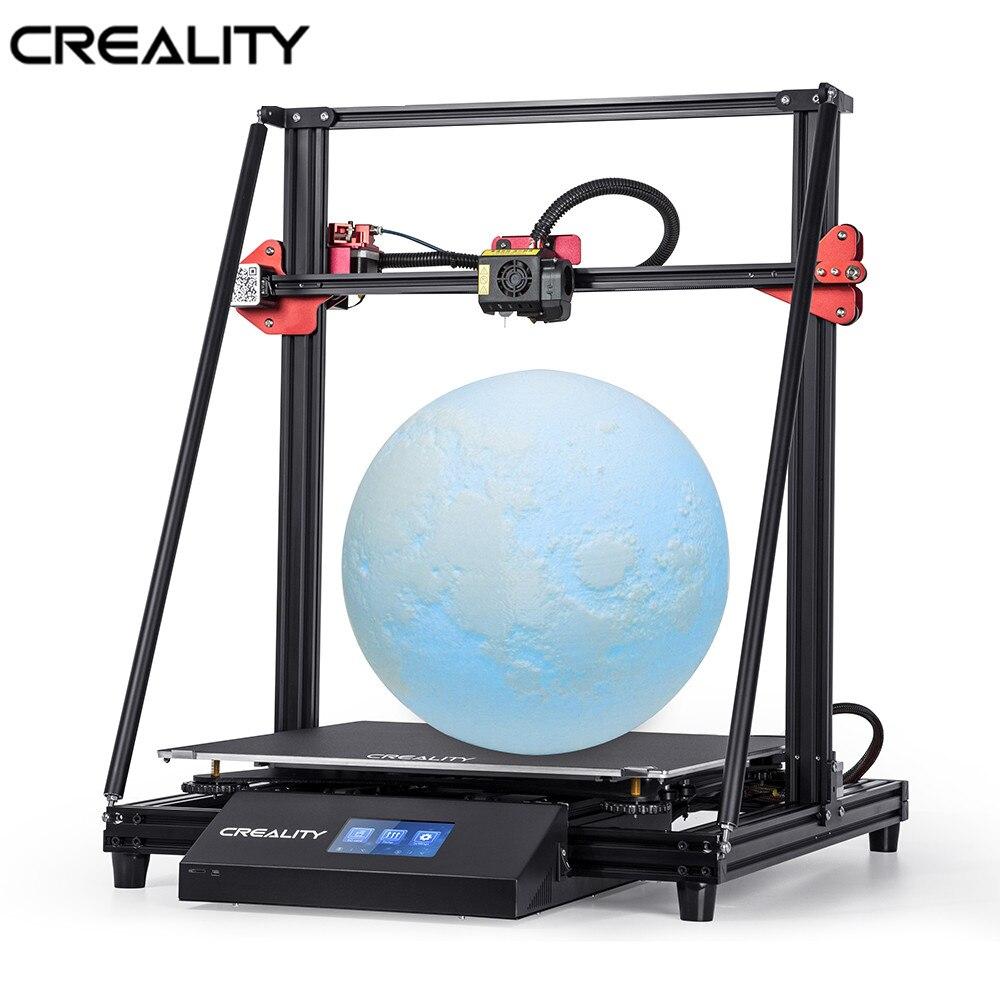 Creality 3d CR-10 max grande tamanho de impressão 4.3inchtouch-tela dupla potência com detecção de filamento de impressão de currículo