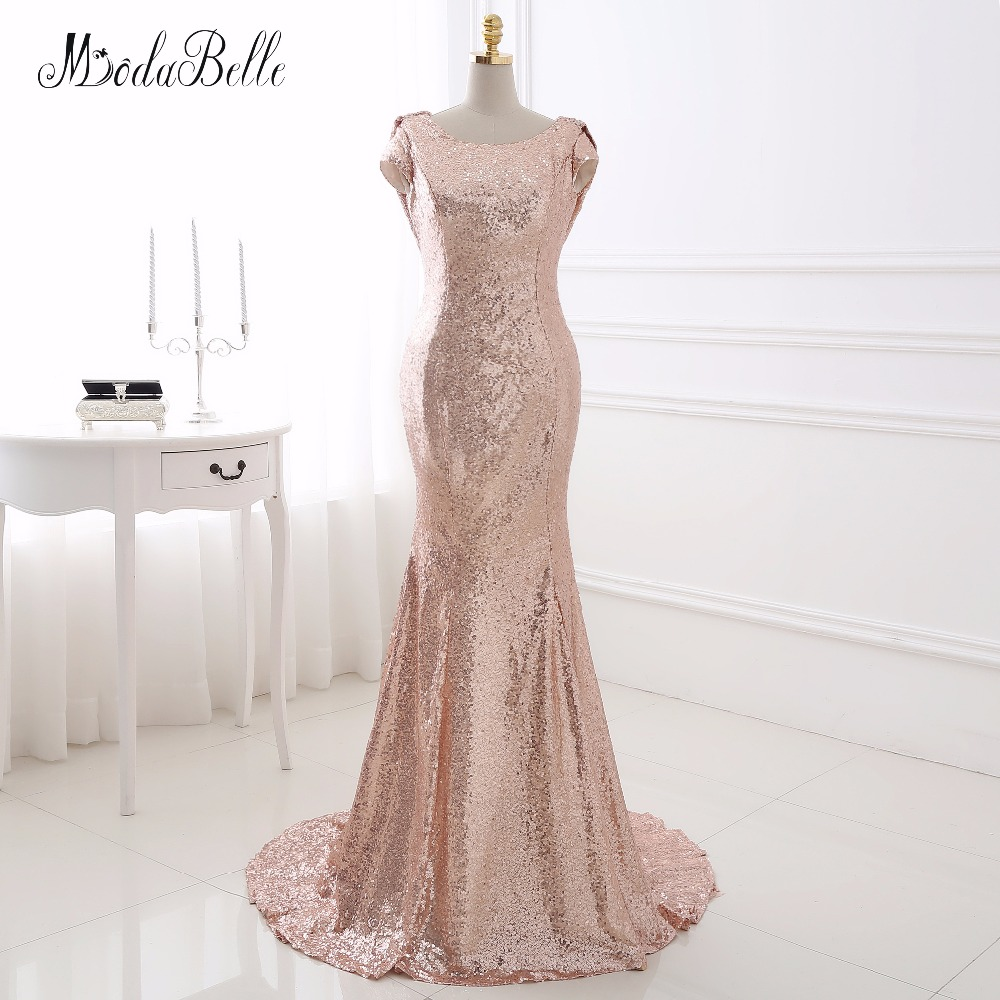 Western Sequin Champagne Gold Bridemaids Dresses Cheap