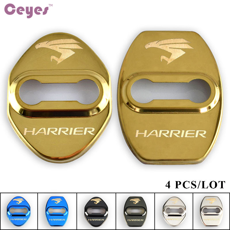 Ceyes Car Styling Door Lock Decoration Protection Cover Case For Toyota Harrier Avensis Rav4 Car Emblems Accessories Car-Styling