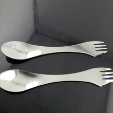 Outdoor Multi Function Stainless Steel Spork Travel Camping Hiking