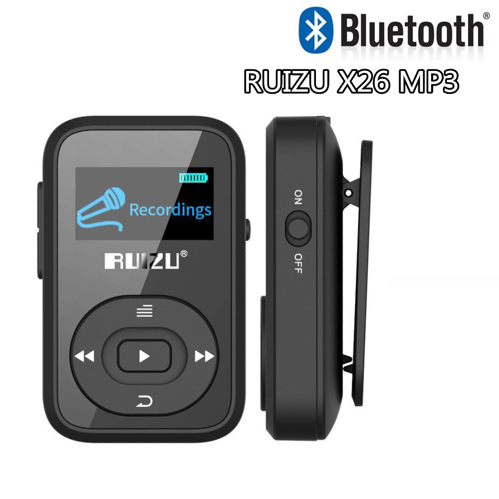 RUIZU X26 Sport MP3 Player 8GB Memory Music Speakers MP3 FM USB Portable MP3 Running Bluetooth Music Speaker with E-Book Reading