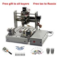 mini DIY cnc machine 3020 mach3 control 300w pcb milling wood router USB port
