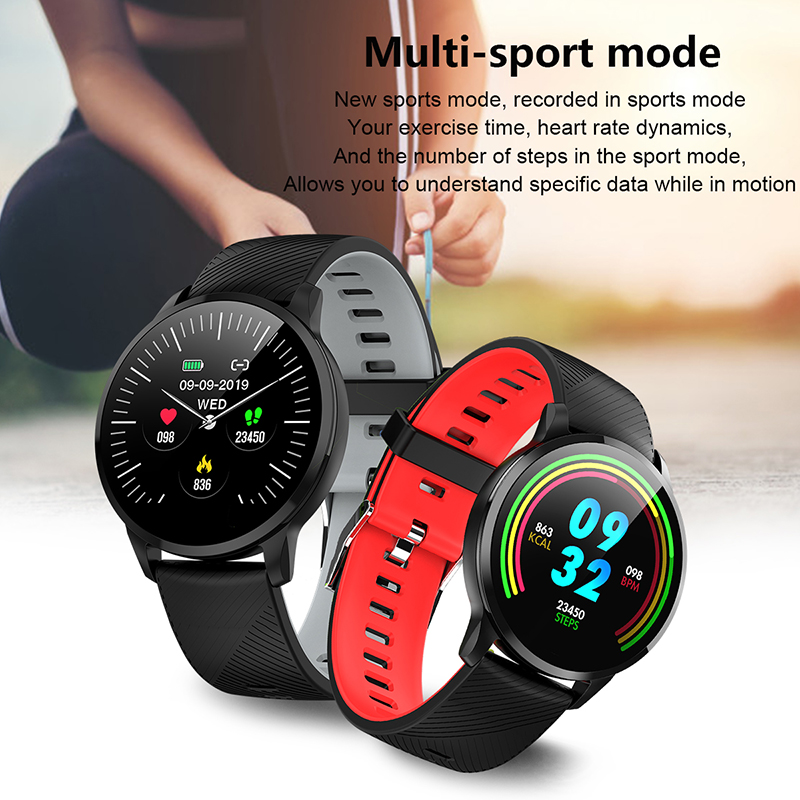LIGE Sport Smart Watch Women Waterproof Heart Rate Monitoring Bracelet Men Fitness Pedometer Smart Bracelet 24 Hour Long Standby
