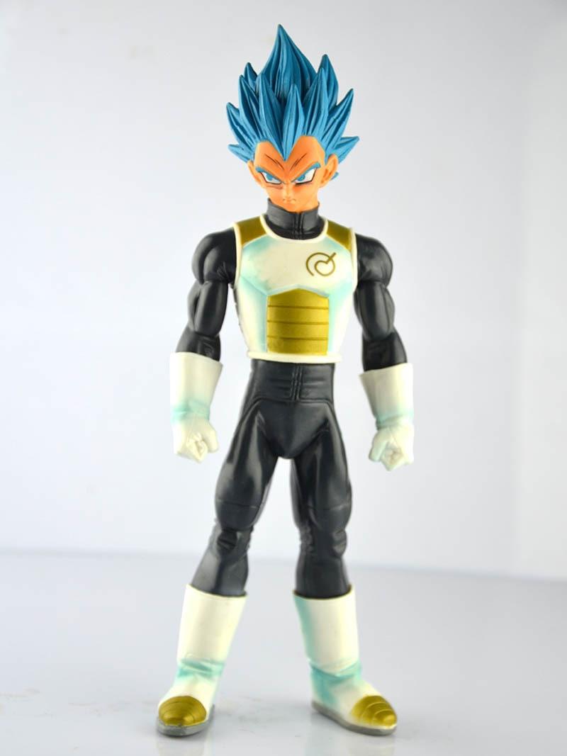 HKXZM Anime Figure 24CM Dragon Ball Super Vegeta Blue Hair PVC Figure Collectible Model Toy Gift