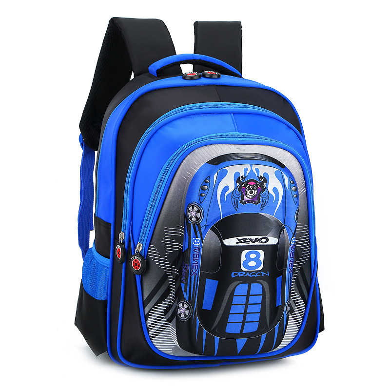 Cartoon 3D car school bags boys Orthopedic backpack