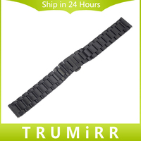 22mm Stainless Steel Watch Band Buckle Pasek Bransoletka dla Samsung Biegów 2 R380 R381 R382 Motorola Moto 2nd Gen 360 46mm 2015
