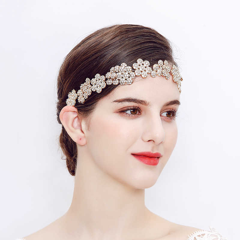 Miallo Gold สี Headbands ผู้หญิงเต็มรูปแบบของ Sky ดาวงานแต่งงานออสเตรียคริสตัล Vine แฟชั่นเครื่องประดับ Tiaras