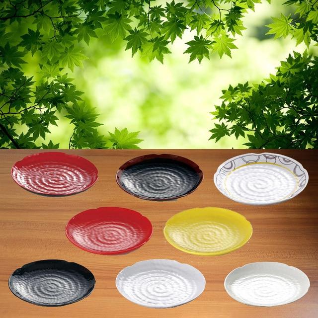 Melamine Dinnerware Dinner Plates Concave-Convex Point Plate Fashionable Restaurant Melamine Dish A5 Melamine Tableware & Melamine Dinnerware Dinner Plates Concave Convex Point Plate ...