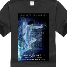 Ghost In The Borsette Imax Poster Sci Fi Cult Movie T Shirt Bianco Semplice Del Fumetto di Stile di Estate(China)