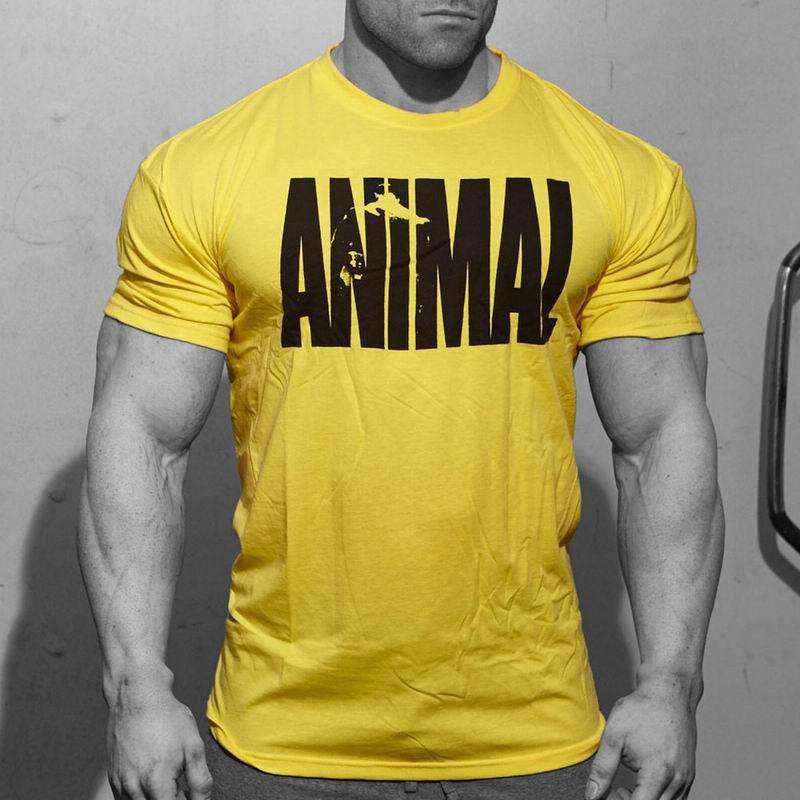 Popular animal bodybuilding shirt buy cheap animal for Cheap workout shirts mens