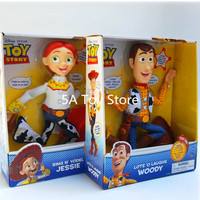 Toy Story Lots o Laughs Woody Sing N Yodel Jessie PVC Action Figure Collectible Model Toy Kids Doll Brinquedo