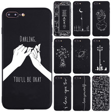 Lover Darling Equation Print Phone Cases For iphone 7 8 Plus X 5S SE Case For iphone 6 Plus XR XS Max 11Pro Frosted Soft Cover(China)