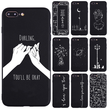 US $0.65 45% OFF|Lover Darling Equation Print Phone Cases For iphone 7 8 Plus X 5S SE Case For iphone 6 Plus XR XS Max Frosted Soft Back Cover-in Half-wrapped Case from Cellphones & Telecommunications on Aliexpress.com | Alibaba Group