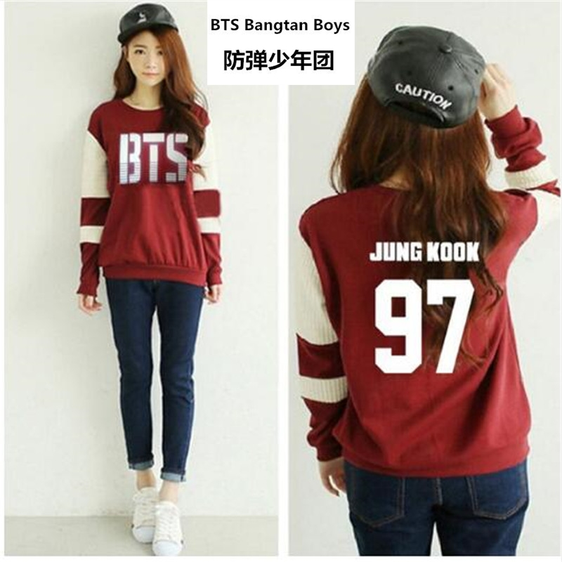 Kpop bts Bangtan Meninos hoodies manga Longa mulheres bts 2016 impresso epílogo fãs apoio ou pescoço camisola plus size treino