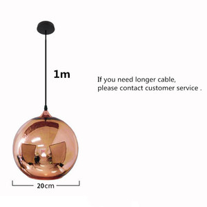 Image 2 - Coquimbo Globe pendentif lumières cuivre verre miroir boule suspension lampe cuisine moderne luminaires suspendus lumière