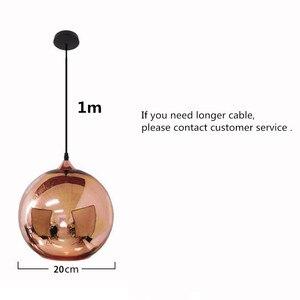 Image 2 - Coquimbo küre kolye ışıkları bakır cam ayna topu asılı lamba mutfak Modern aydınlatma armatürleri asılı ışık
