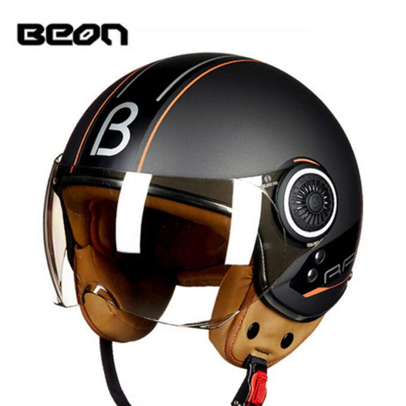 2017 Summer New Netherlands BEON Retro Harley style motorcycle helmet B-110B Motorbike helmets made of ABS and PC lens visor 2017 summer new half face beon child motorbike helmet abs b 103etk children motorcycle helmets for boys girls for four seasons