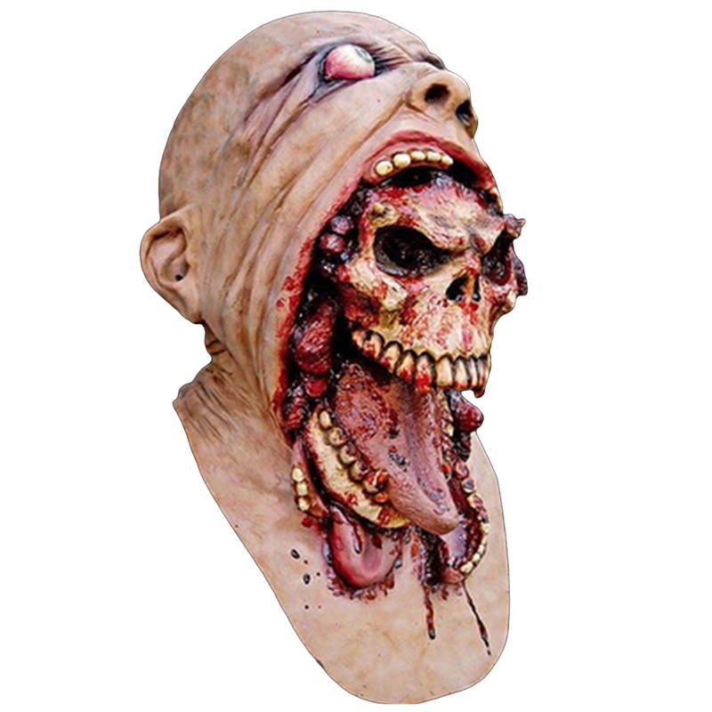 cute zombie horrorable face rotting zombie christmas halloween cosplay party props masks upscale ghost horror scary - Zombie Props