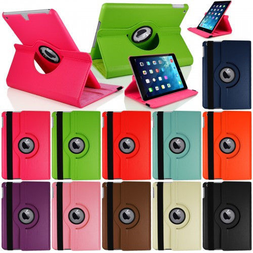 360 Rotating Stand Flip Smart PU Leather Case Cover for Case Apple iPad Air 1st Generation (2013) Cover w/Screen Film Stylus Pen luxury ultra slim magnetic smart flip stand pu leather cover case for apple ipad 6 air 2 retina display wake stylus pen