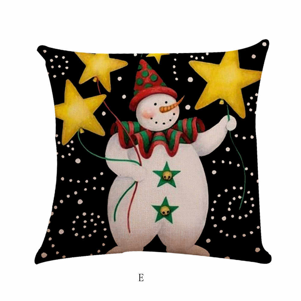 2019 Kerst Kussenslopen Borduren Gooi Kussenslopen Voor Thuis Auto Decoratieve Kussenhoes Decoratieve Kussens Kussenhoes