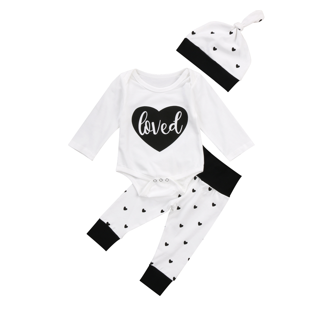 Newborn Infant Baby Girls Boys Cotton Romper Jumpsuit Pants Outfits Set baby girl clothes baby girl Clothes
