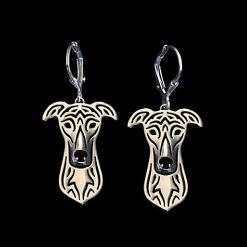 2018 High Quality Womens Alloy Pet Earrings Lovers Jewelry Greyhound Dog Earrings Drop Shipping
