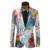Mens Adelgazan la Chaqueta Patrón de Colores Tamaño XS-6XL Hombres Chaquetas de Traje de Moda Otoño Nueva Marca Blazer Terno masculino