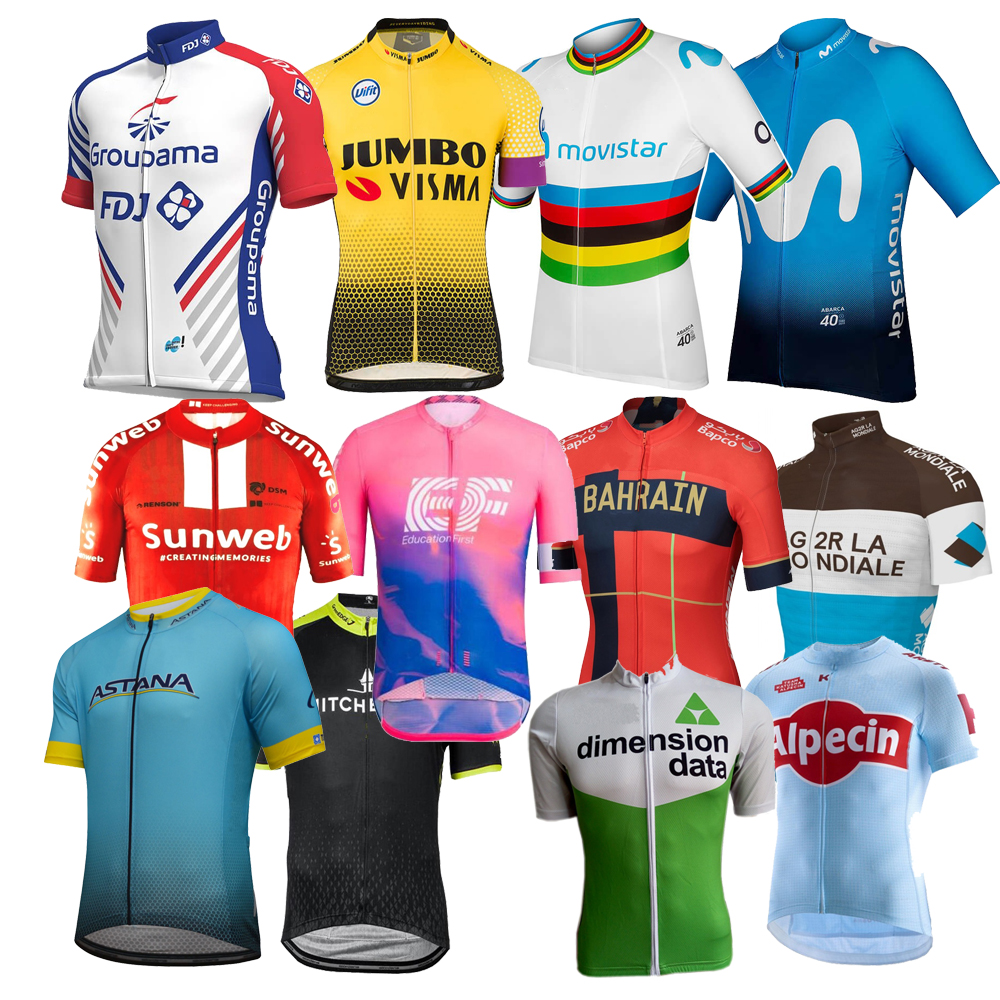 2019 Cycling Bike Clothing Short Sleeve Bicycle  Ciclismo Jersey Shirt Top White