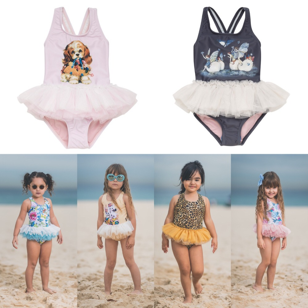 170edd86477 Children Swimsuit 2019 new Toddler swimwear girls seaside holiday swimwear  infant princess Korean cute bikini swimwear kids bobo