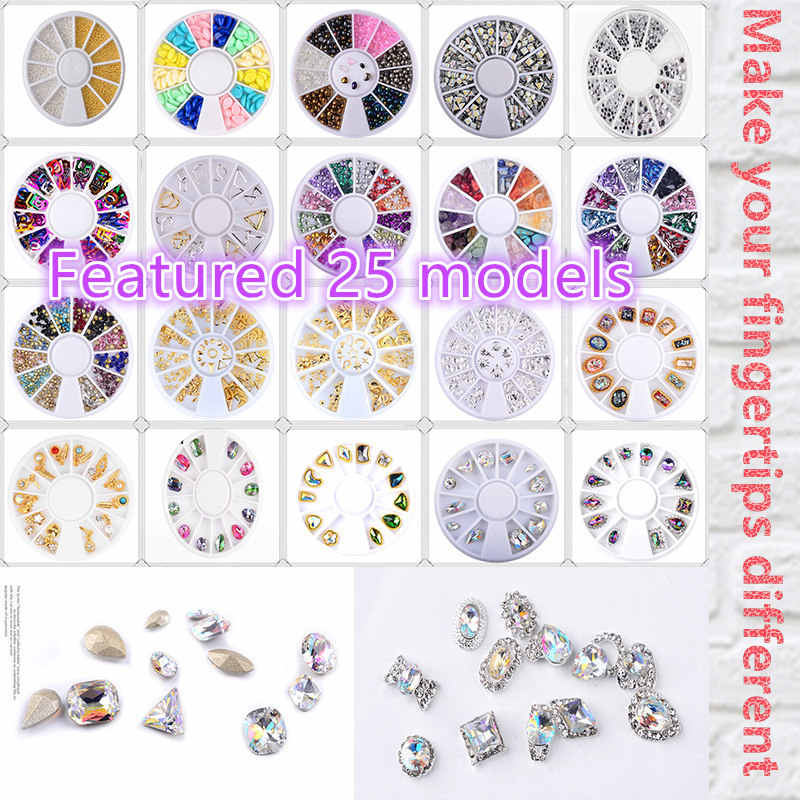 Y-XLWN Mixed Color Chameleon Stone Nail Rhinestone Small Irregular Beads Manicure 3D Nail Art Decoration In Wheel Accessories