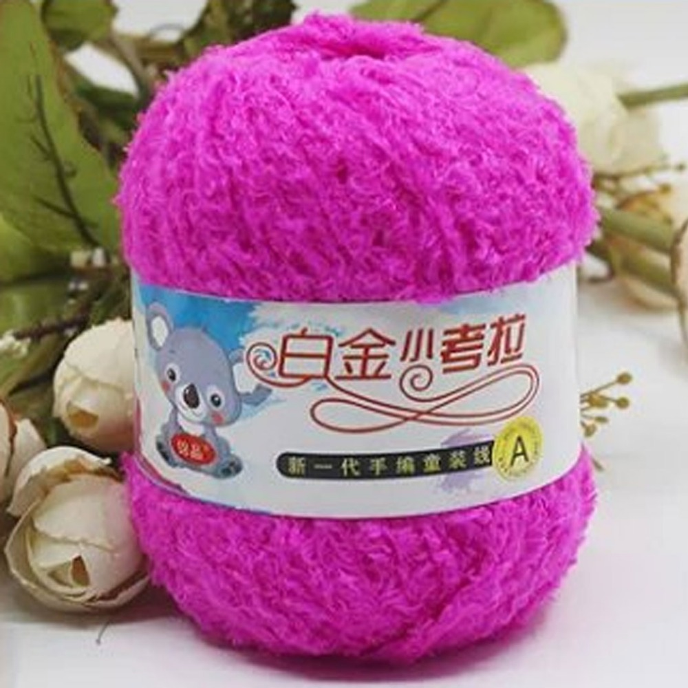 50 G Soft Plush Thick Yarn For Knitting Warm Cotton Woolen Diy Hand Needle  Super Chunky Yarn Baby Sweater Blanket Gloves Hat