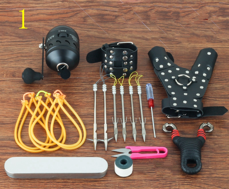 New 1Set Good Quality Powerful Shoot Fishing Slingshot Big Gift For Hunting Suit Combination Catapult Functional Clamp new powerful high quality 1 set