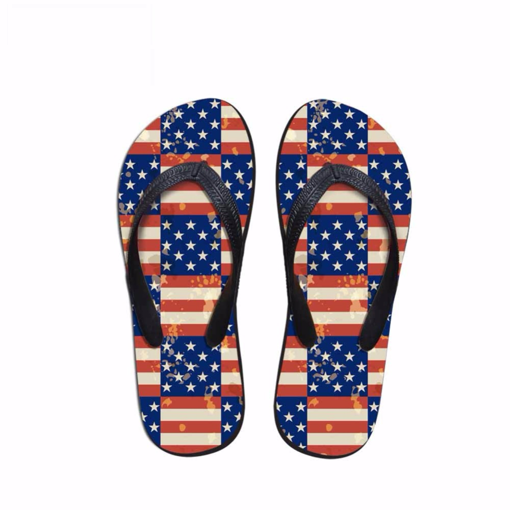 Noisydesigns flags printed male  Comfortable Anti-slip Bathroom Solid - Men's Shoes - Photo 2