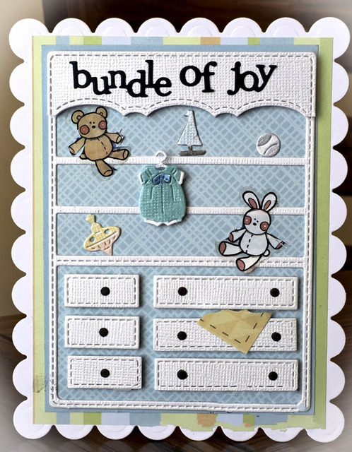 Baby Cloth Toy Chest Cabinet Metal Cutting Dies For Diy Scrapbooking