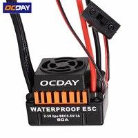 1pcs OCDAY Waterproof 60A Sensorless Brushless Car Electronic Speed Control ESC