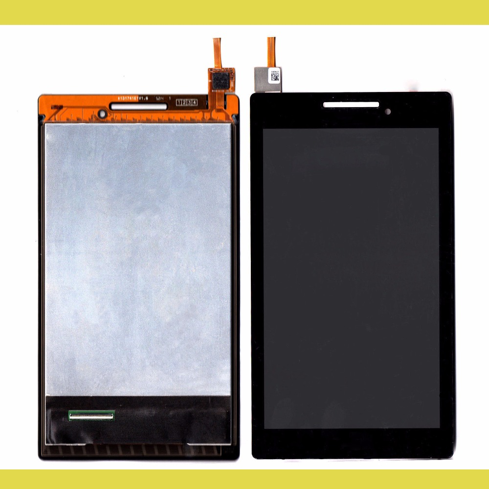 New 7'' inch LCD Display + Touch Screen Digitizer Assembly Replacements For Lenovo Tab 2 A7-10 A7-10F Free shipping black new original lcd display touch screen digitizer replacement assembly with tools for htc desire 500 free shipping