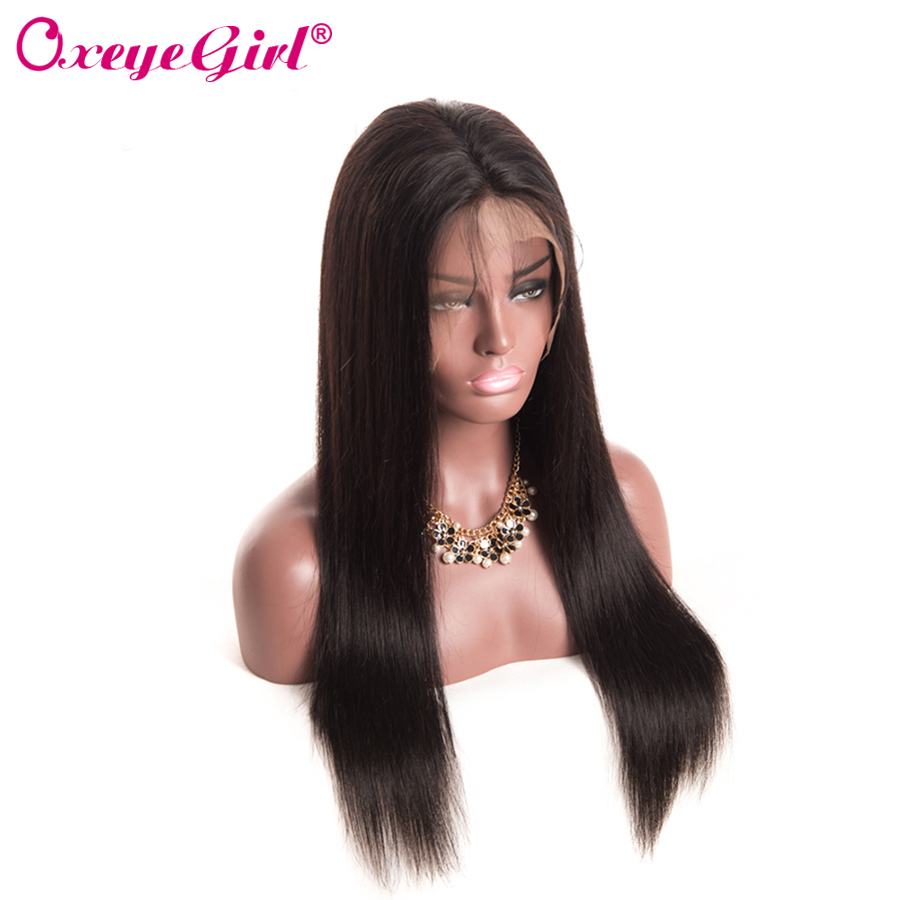 Glueless Full Lace Human Hair Parykker Med Baby Hair Brasilian - Menneskehår (sort) - Foto 2