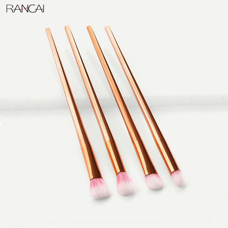 RANCAI 1/4pcs Women Diamond Handle Eyeshadow Brush Contour Blending Concealer Makeup Cosmetic Brush Tool