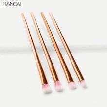 Concealer Eyeshadow Cosmetic-Brush-Tool Makeup Contour-Blending 4pcs RANCAI Diamond-Handle