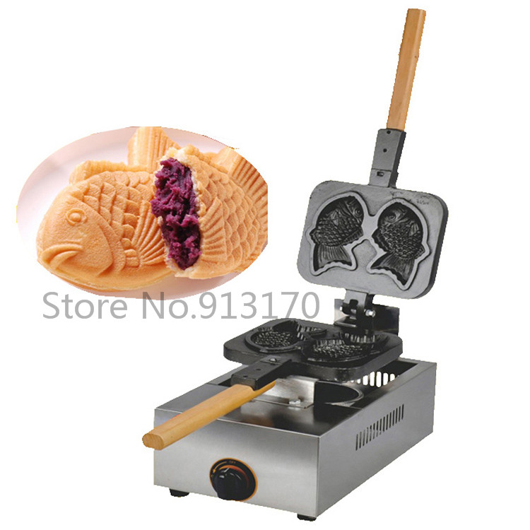 все цены на Gas Fish shape Cake Machine Taiyaki Waffle maker with 2 molds Without Electric Power
