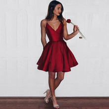 лучшая цена Verngo Simple Red Short Spaghetti Straps 2019 A-Line Long Prom Dresses Gowns Red Party vestidos de fiesta de noche