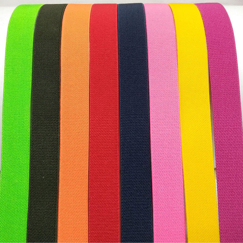 2.5CM widePopular color <font><b>twill</b></font> high quality durable pants <font><b>skirt</b></font> belt / sewing clothing accessories / elastic band / rubber band image