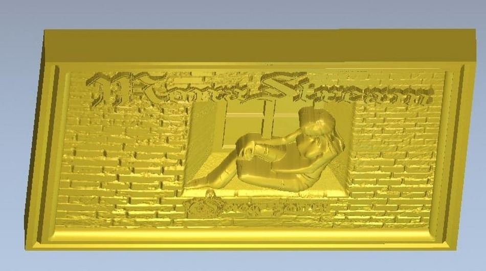 3d model relief for cnc in STL file format Panno step 3d model relief panno creation