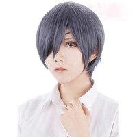 Black Butler Kuroshitsuji Ciel Phantomhive Grey Blue Cosplay Wig
