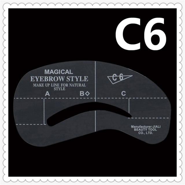 5pcs Eyebrow Stencils C6 Plastic Eyebrow Stencil Reusable Eyebrows