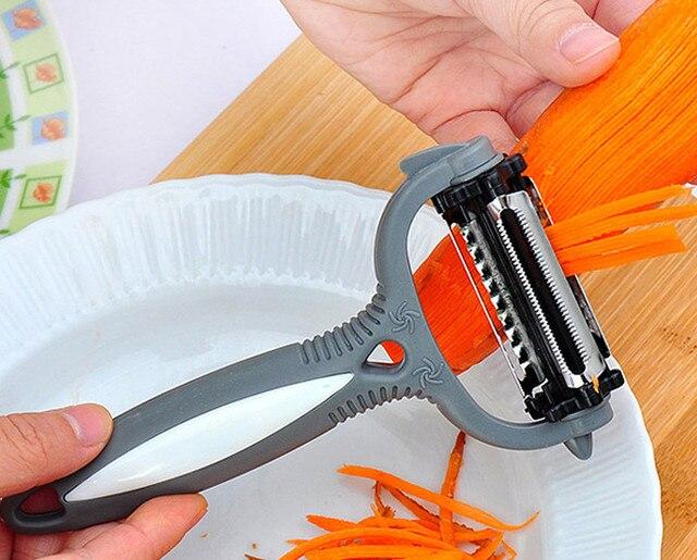Gadgets de cuisine rotatifs 3 en 1 | Livraison gratuite, 3 en 1, fruits, légumes, carottes, pommes de terre, éplucheur