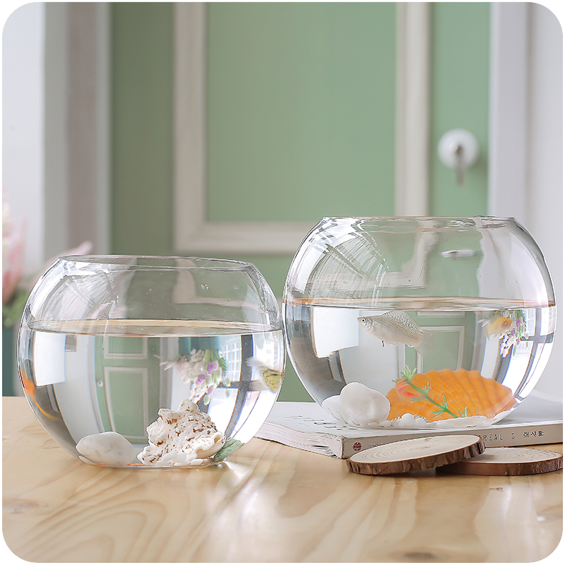 Diameter=12cm Glass Terrarium Vase Wedding Party Decoration Creative Glass Globe Aquarium Fish Bowl Home Decoration