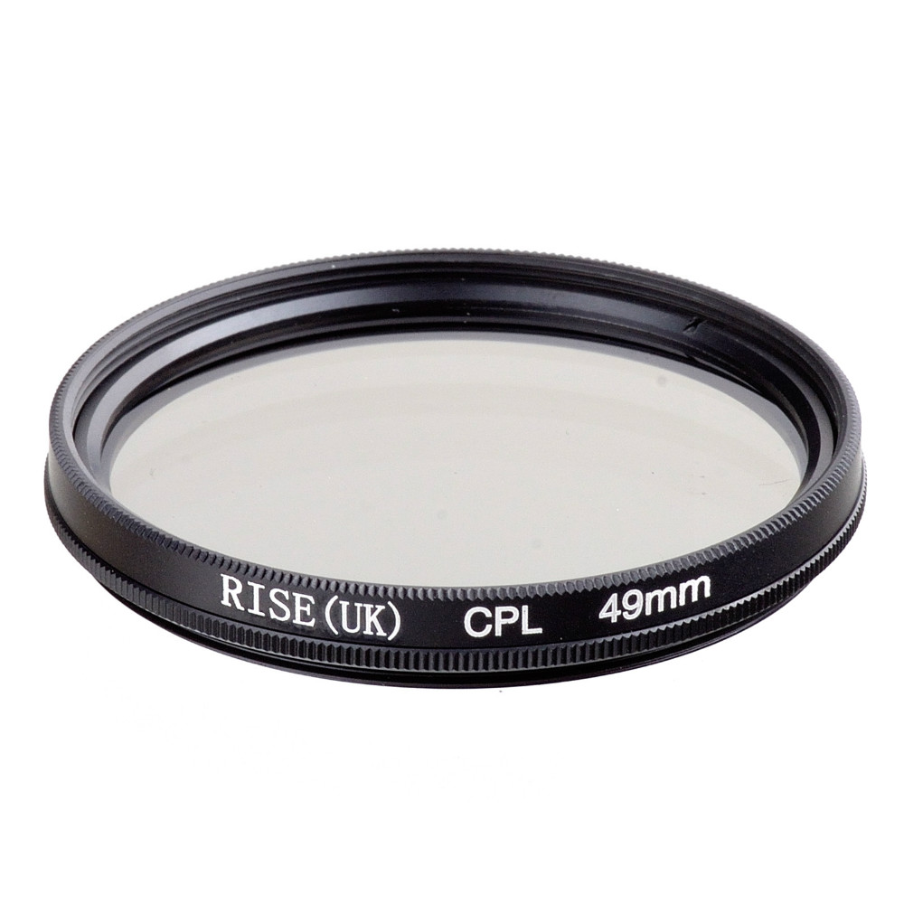 RISE(UK) 49MM CPL PL-CIR Polarizing Filter for DLSR 49mm lens free shipping