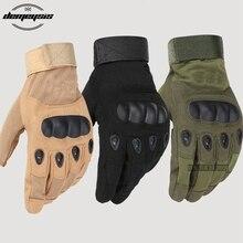 Тактические перчатки Военная армия Пейнтбол страйкбол Спорт на открытом воздухе стрельба полиция Карбон Жесткий Костяшки Полный палец перчатки