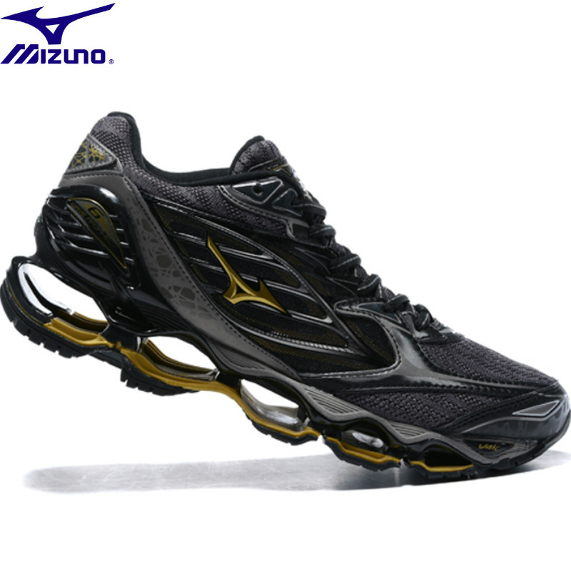 reputable site f2e34 997ae US $63.36 52% OFF MIZUNO WAVE Prophecy 7 professional Men Shoes running  shoes Outdoor Air Cushioning sneakers Weightlifting Shoes Size 40 45-in ...